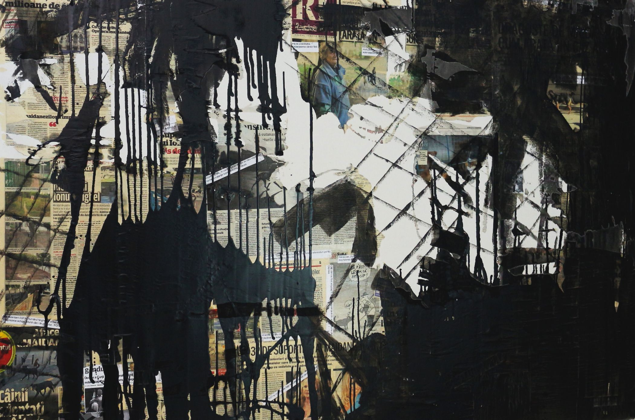 4. Crime thriller -100x150 cm, collage on canvas, 2014