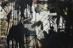 4. Crime thriller -100x150 cm, collage on canvas, 2014