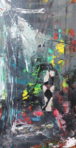 10. Untitled, mixed technique, 90 x 150 cm, 2015