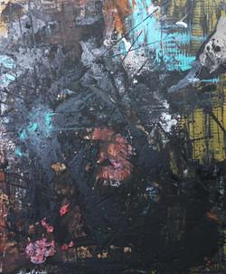 7. Mind landscape - mixed technique, 120 x110 cm, 2014