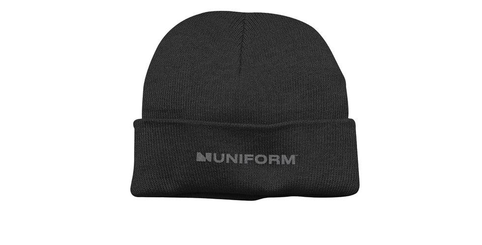 UNIFORM BLACK BEANIE