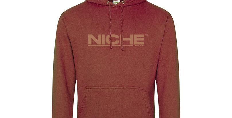 NICHE RED RUST HOODIE