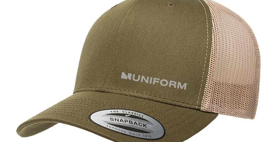 UNIFORM SNAP BACK KHAKI TRUCKER CAP