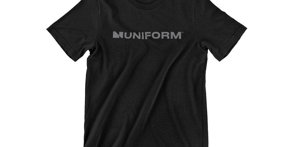 UNIFORM BLACK TEE