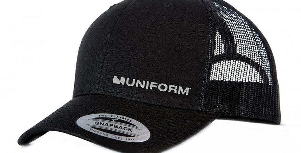 UNIFORM SNAP BACK BLACK TRUCKER CAP