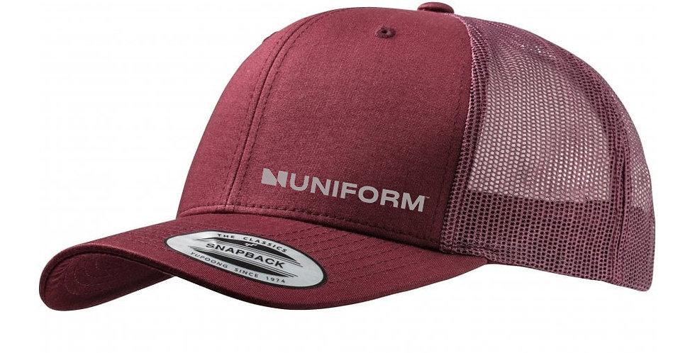 UNIFORM SNAP BACK MAROON TRUCKER CAP