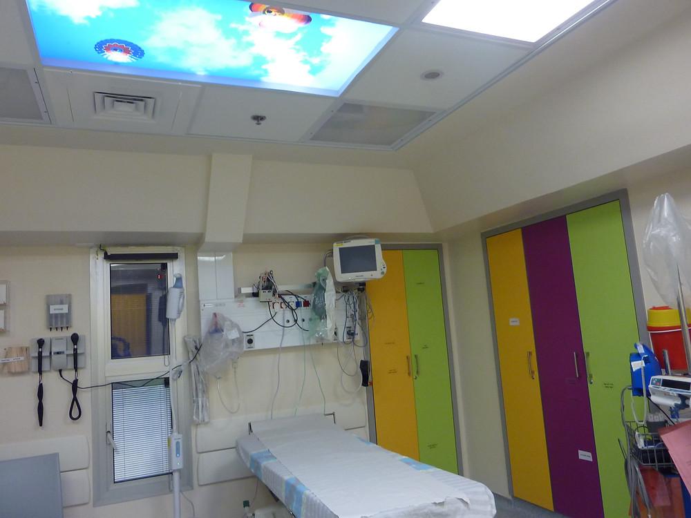 חדר ילדים מרכז רפואי כרמל