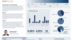 August update - Growth portfolio