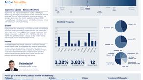 September update - Balanced portfolio