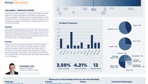 July update - Balanced portfolio