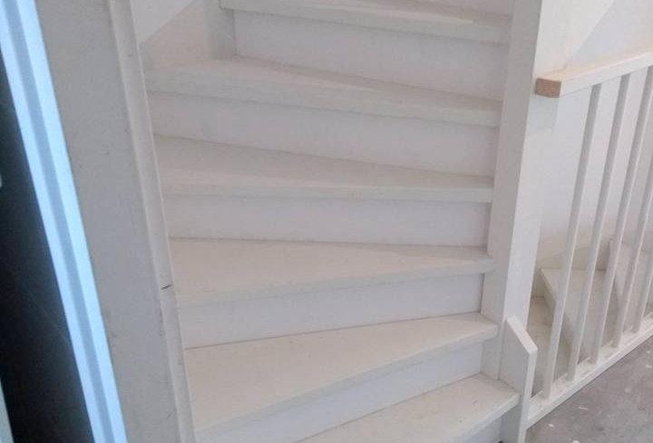 Open trap dicht gemaakt