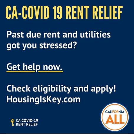 CA-COVID 19 Rent Relief