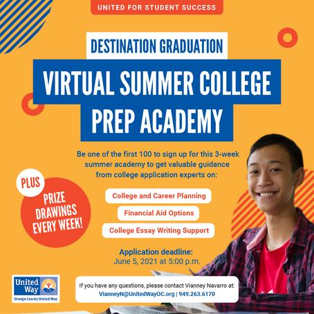 Destination Graduation Summer College Prep Academy