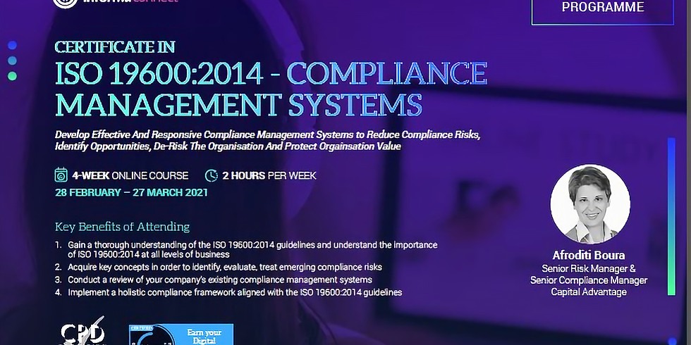 Informa: Certificate in ISO 37301:2021 - Compliance Management Systems