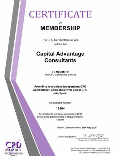Capital Advantage Consultants Membership