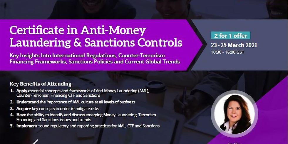Certificate in Anti-Money Laundering & Sanctions Controls