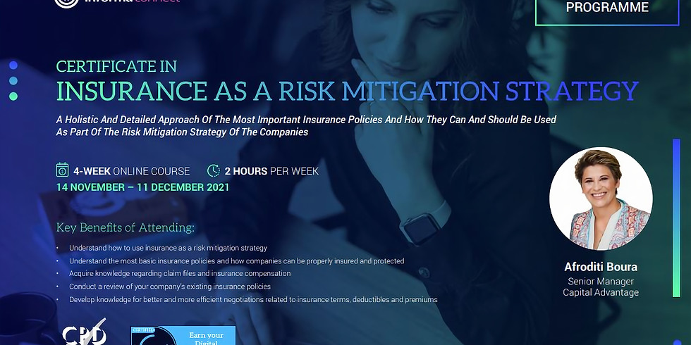Certificate in Insurance as a Risk Mitigation Strategy (Online Programmes)