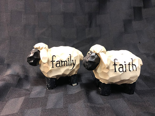 Wooden Sheep with Sentiment