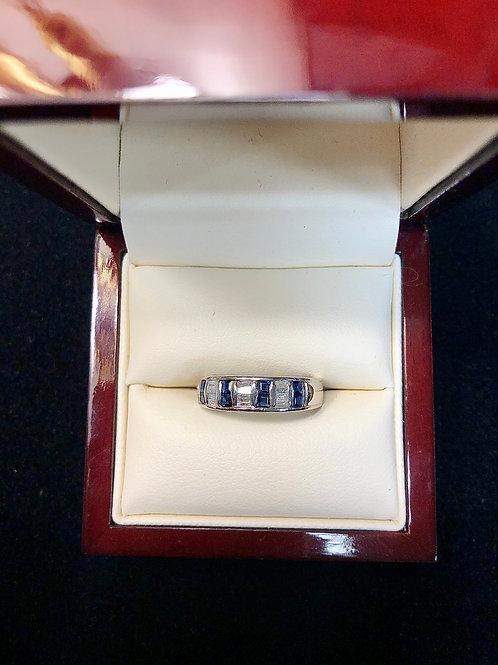 14k Diamond Sapphire Ring Size 7