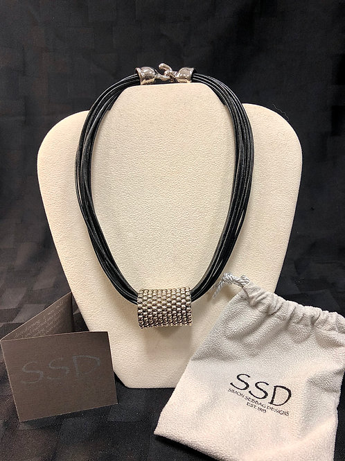 Simon Sebbag Leather Necklace and Bead Set