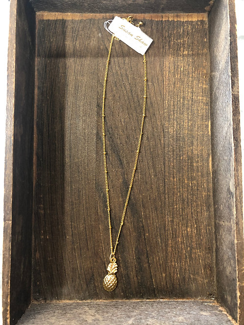 Susan Shaw Gold Pineapple Necklace