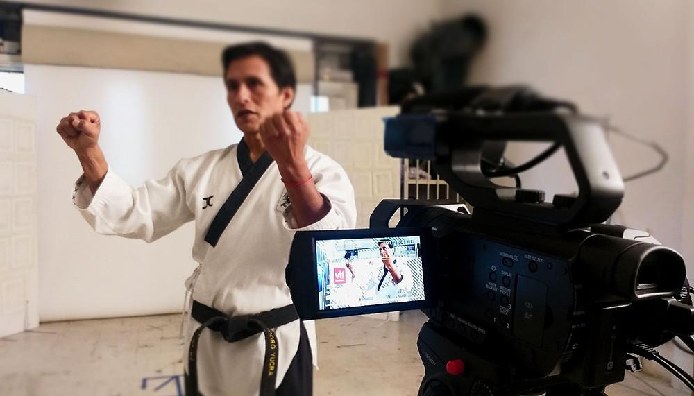 Curso de poomsae en linea de veamoslasfotos, isidoro yucra, taekwondo argentina