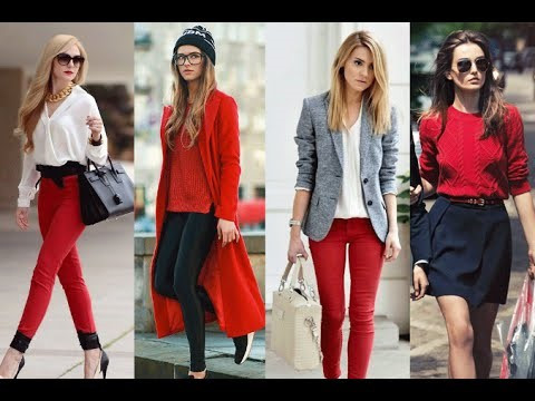 moda color rojo
