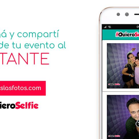 Nueva App para descargar y compartir las fotos de tu evento en el momento! #QuieroSelfie Live!