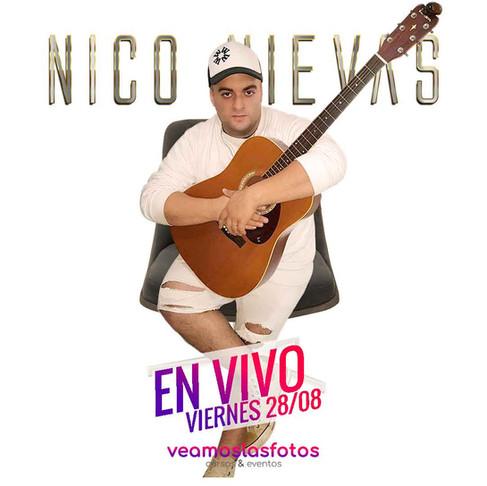 Nico Nievas en un show gratuito y a benificio en vivo!