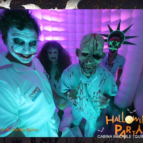 La Cabina Inflable en la fiesta de Halloween !