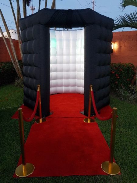 cabina inflable negra