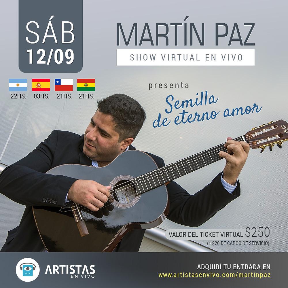 Martin Paz Show virtual en vivo veamoslasfotos