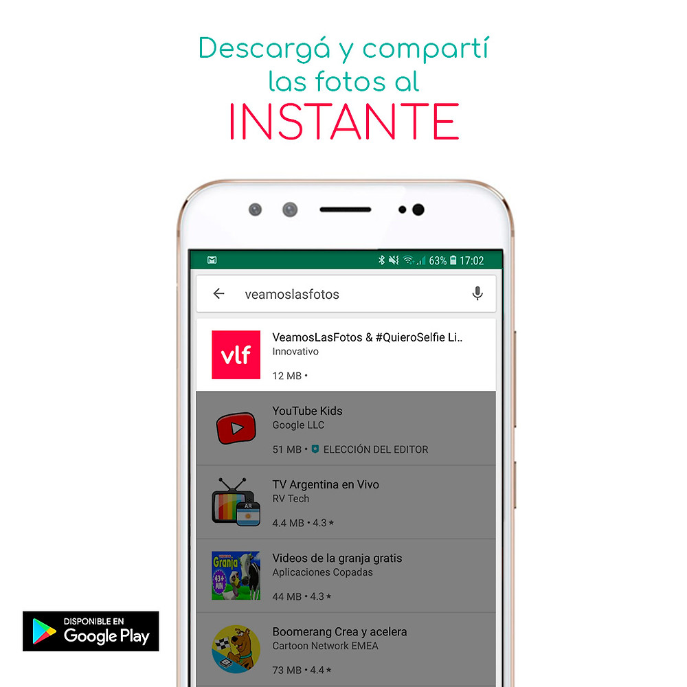 quieroselfie live app veamoslasfotos