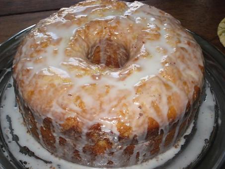 LEMON GLAZED POUND CAKE