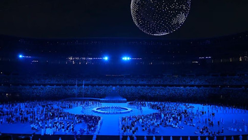 Cerimônia de abertura das Olimpíadas de Tóquio foi simples e tecnológica