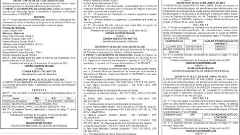 Publicidade Legal | Edital - 19/07/2021