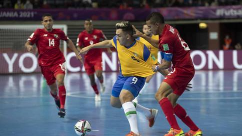 Brasil vence o Panamá por 5 a 1 na Copa do Mundo de futsal