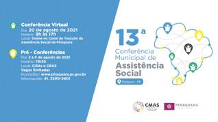 Piraquara realiza 13ª Conferência de Assistência Social