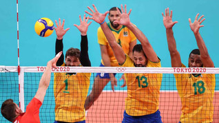 Tóquio 2020: Brasil leva virada da Rússia e dá adeus ao ouro no vôlei masculino