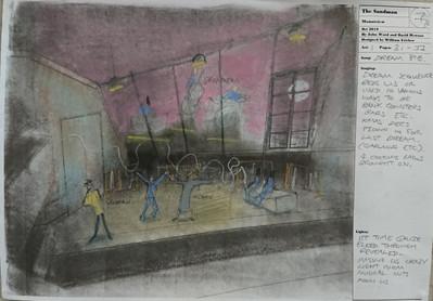 The Sandman. A storyboard drawing.