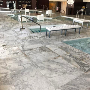 Marble is no longer slippery when wet (S
