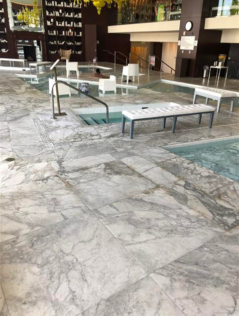 Marble is no longer slippery when wet (S