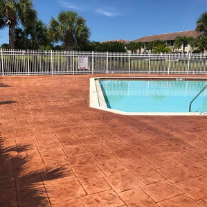 Stained stamped concrete refinish is no