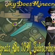 skydoesminecraft 10million subs