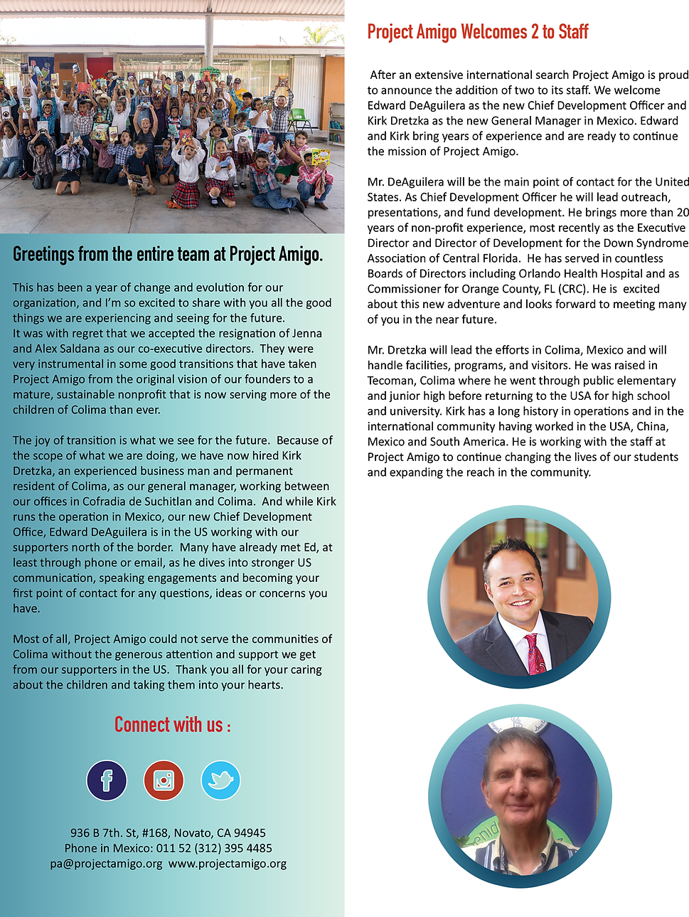 Project Amigo Non Profit Mexico Past Newsletters