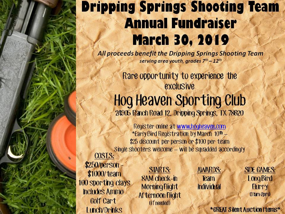 Dripping Springs Tiger Clay Shoot Tournament