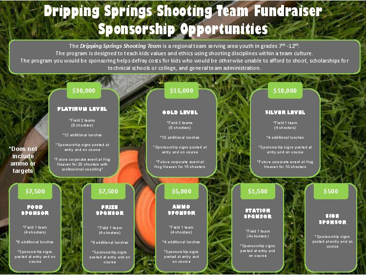 Sponsor the Dripping Springs Shooting Team