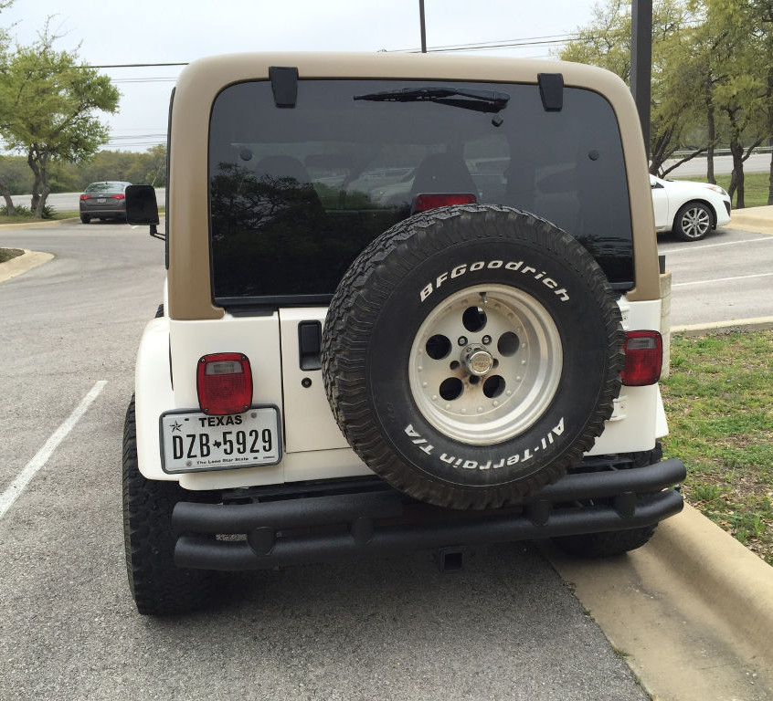 Back view of the 2016 raffle jeep.