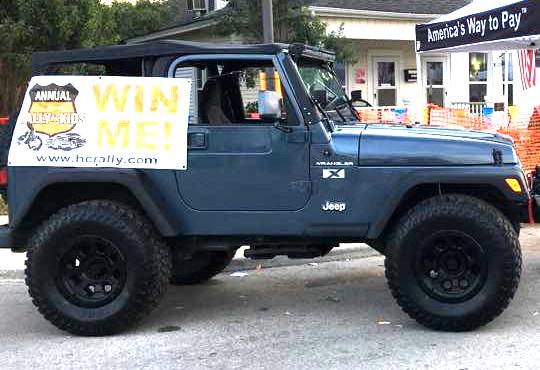 HC Rally 2018 Charity Raffle Jeep
