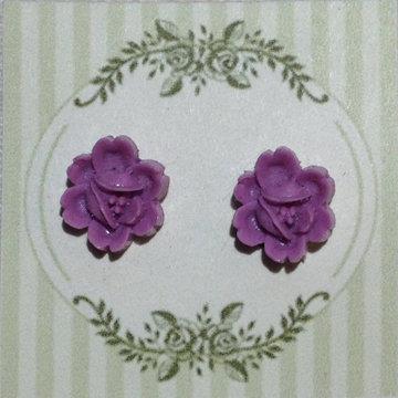 Lilac Flower Earring